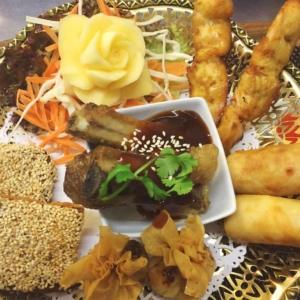 Boonnak Thai restaurant mixed starter